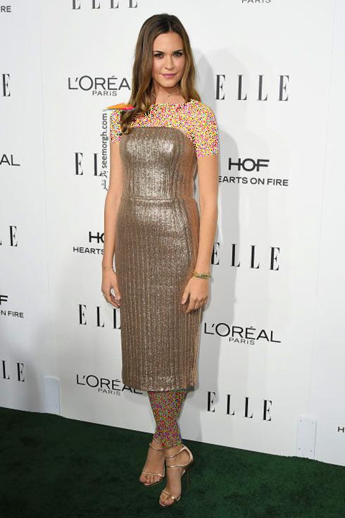 مدل لباس اودت انابل Odette Annable در میهمانی مجله ال Elle
