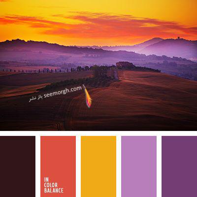 پالت رنگی شماره 3 با رنگ های تند پاییزی برای یک دکوراسیون داخلی جذاب