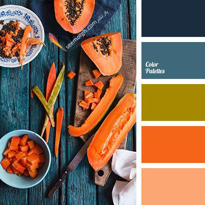 پالت رنگی شماره 4 با رنگ های تند پاییزی برای یک دکوراسیون داخلی جذاب
