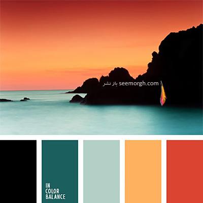 پالت رنگی شماره 6 با رنگ های تند پاییزی برای یک دکوراسیون داخلی جذاب