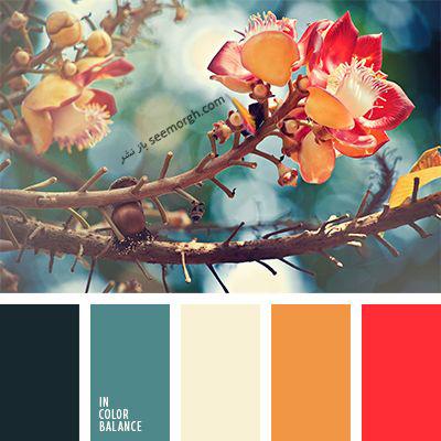 پالت رنگی شماره 7 با رنگ های تند پاییزی برای یک دکوراسیون داخلی جذاب