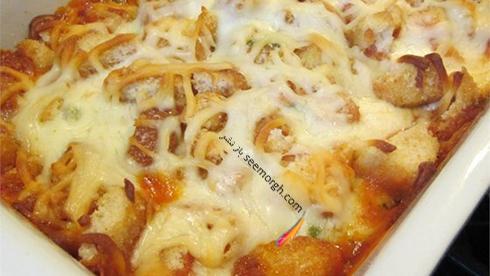 طرز تهیه خوراک مرغ و پنیر پارمزان