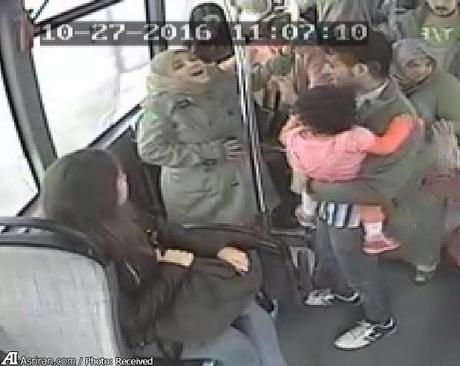 احساس درد زن باردار در اتوبوس