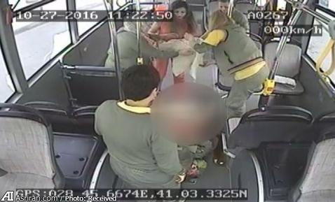بدنیا آمدن نوزاد در اتوبوس