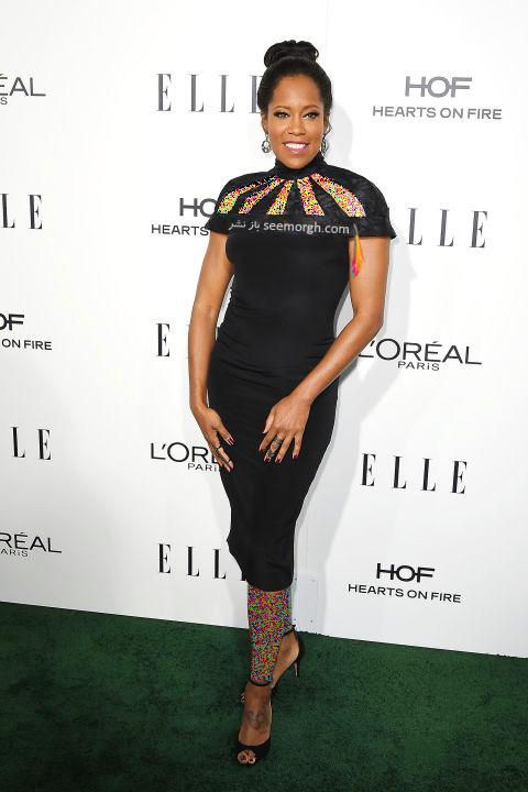 مدل لباس رجینا کینگ Regina King در میهمانی مجله ال Elle