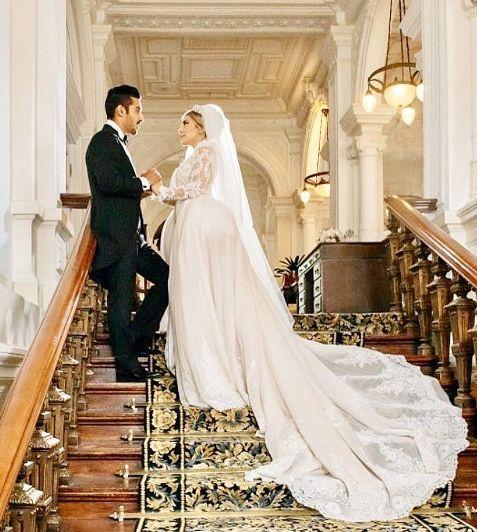 مراسم ازدواج رضا قوچان نژاد و همسرش سروین بیات