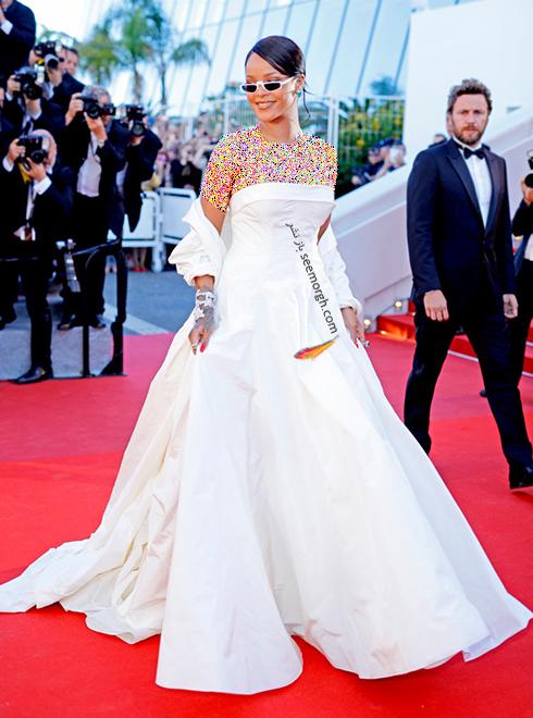 مدل لباس ریحانا Rihanna در سومین روز جشنواره کن 2017 Cannes