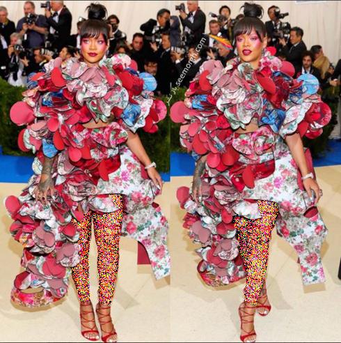 مدل لباس ریحانا Rihanna در مراسم مت گالا Met Gala 2017