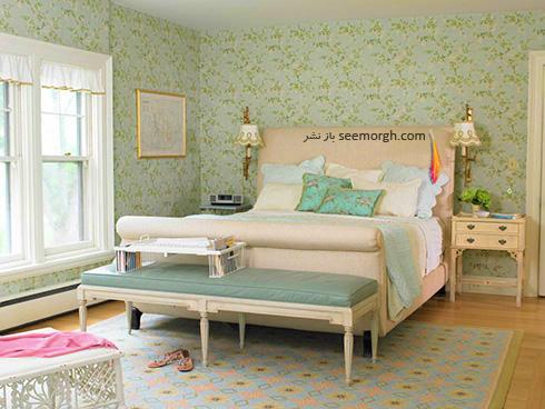 دکوراسیون اتاق خواب رمانتیک با حذف کردن چراغ های سقفی