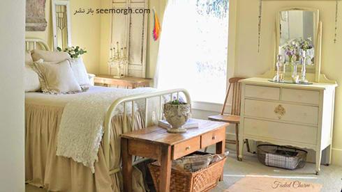 برای داشتن اتاق خوابی رمانتیک در دکوراسیون داخلی اتاق تان از یک تم رنگی استفاده کنید