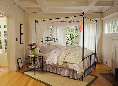 دکوراسیون اتاق خواب تان را با اضافه کردن یک سایه بان، رمانتیک کنید