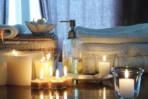 شمع ها یکی از بهتین راه ها برای داشتن اتاق خوابی رمانتیک و عاشقانه است