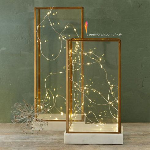 باکس شیشه ای پر از نور برای یک اتاق خواب رمانتیک و عاشقانه