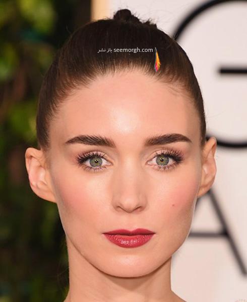 آرایش رونی مارا Rooney Mara در مراسم گلدن گلوب 2016 Golden Globe
