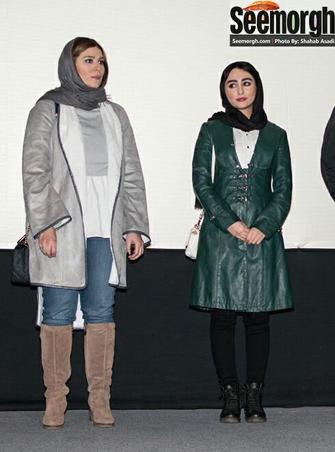 سحر دولتشاهی و ستاره حسینی در اکران فیلم وارونگی در پردیس ملت