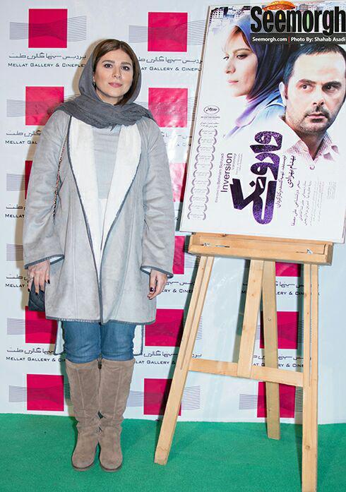 سحر دولتشاهی در اکران فیلم وارونگی در پردیس ملت
