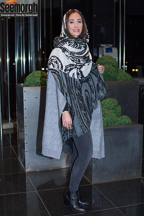 مدل مانتو سحر زکریا در مراسم اکران فیلم ماحی