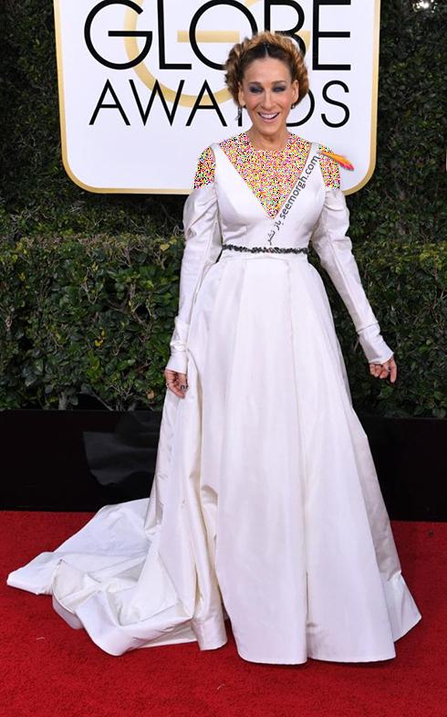 مدل لباس سارا جسیکا پورتمن Sarah Jessica Parker در مراسم گلدن گلوب 2017