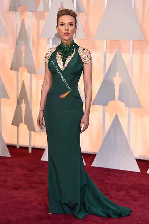 اسکارلت جوهانسون Scarlett Johansson با بدن ساعت شنی,رموز شیک پوشی برای کسانی که اندام ساعت شنی دارند