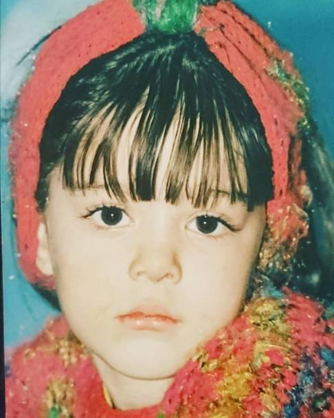 عکس کودکی سحر قریشی, منتشر شده توسط برادر سپهر قریشی