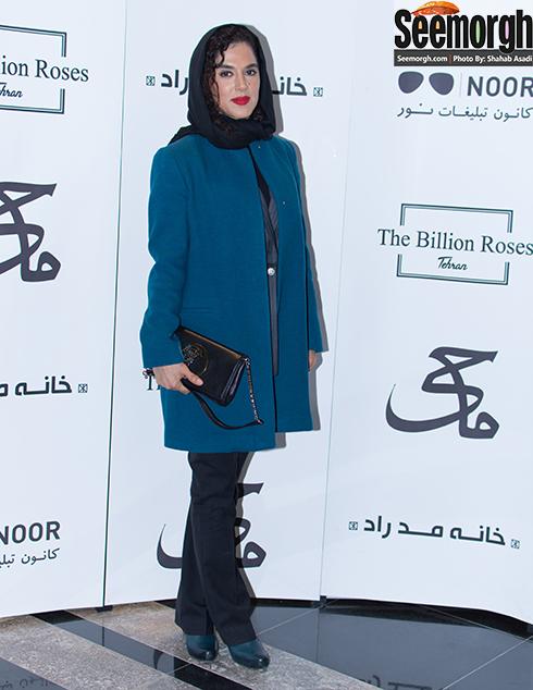 مدل مانتو سپیده اعلایی در مراسم اکران فیلم ماحی
