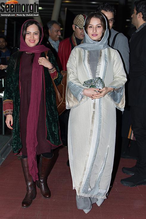 مدل مانتو شبنم گودرزی و شیرین اسماعیلی در جشنواره فجر 35