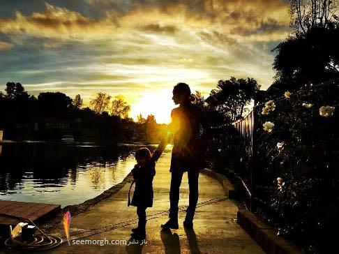 عکس هنری شادمهر عقیلی از همسر و دخترش