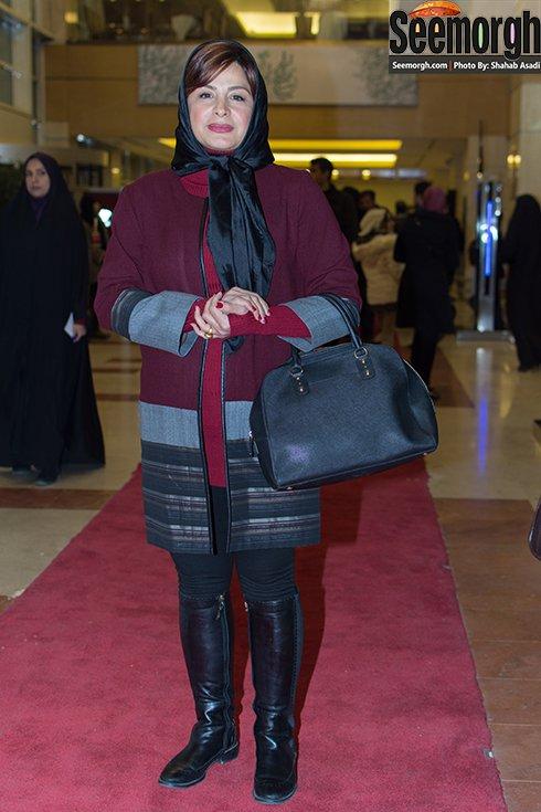 مدل مانتو سیما تیرانداز در افتتاحیه جشنواره فجر 35