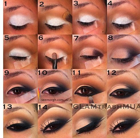 آموزش آرایش چشم دودی - مدل شماره 2
