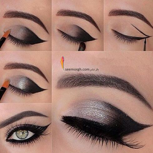 آموزش آرایش چشم دودی - مدل شماره 4