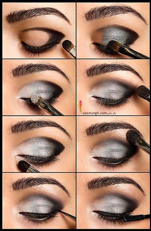 آموزش آرایش چشم دودی - مدل شماره 5