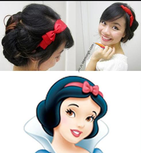 مدل مو دخترانه به سبک شخصیت سفید برفی snow white