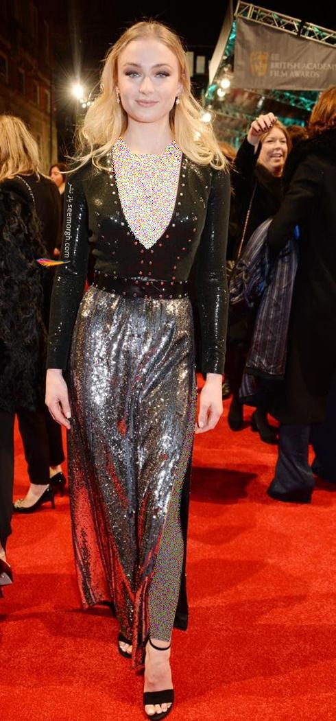 مدل لباس سوفی ترنر Sophie Turner در بفتا 2017 Bafta