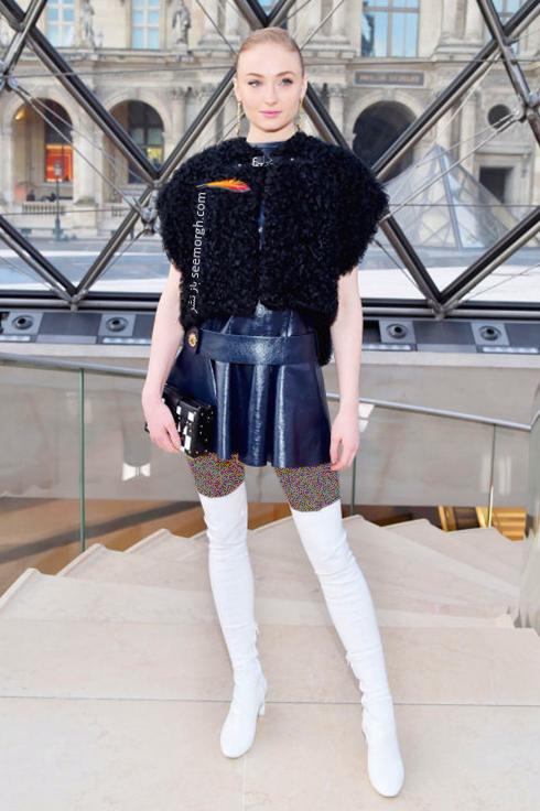 مدل لباس سوفی ترنر Sophie Turner در هفته مد نیویورک