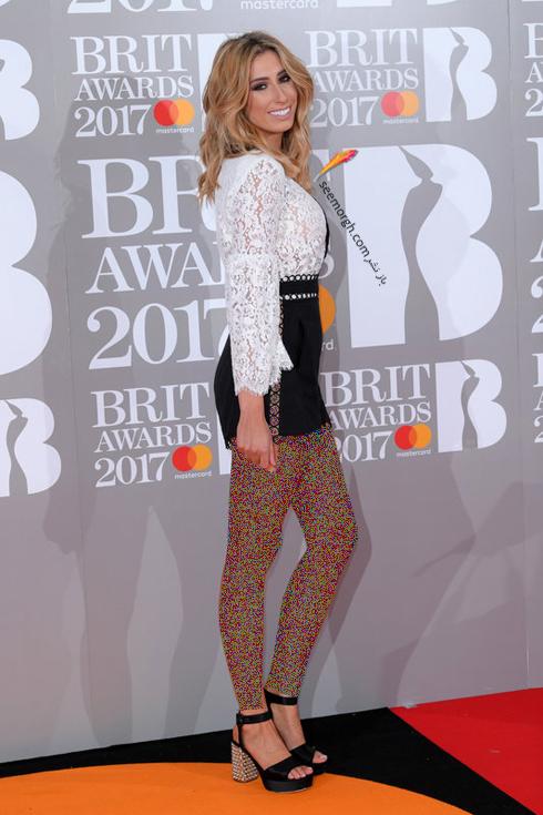 مدل لباس استیسی سالمون Stacey Solomon در جوایز موسیقی بریتانیا British awarsd 2017