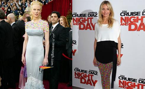 کامرون دیاز Cameron Diaz و نیکول کیدمن Nicole Kidman با فرم بدن مستطیلی