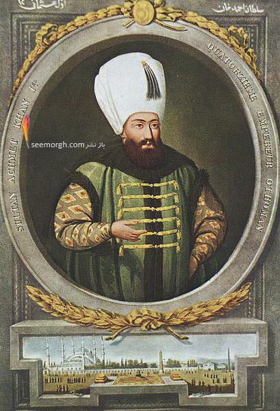 نقاشی از چهره احمد سلطان