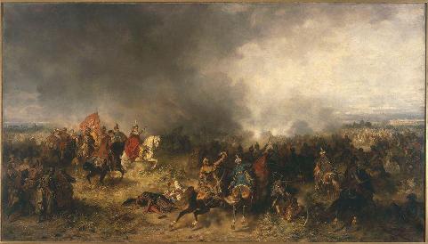 ژان کارول چودکِویچ (فرمانده نظامی لهستان) در نبرد خوتین، اثر ژوزف براندت