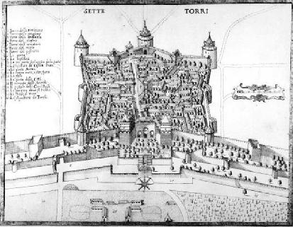 نقاشیای از زندان یدیکوله، سال ۱۶۸۵