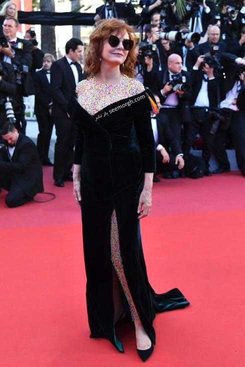 مدل لباس سوزان ساراندون Susan Sarandon در جشنواره کن 2017 Cannes
