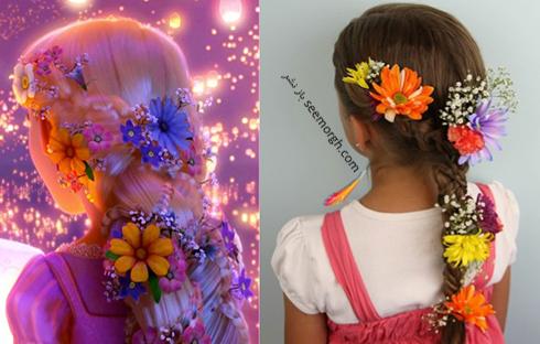 مدل مو دخترانه شخصیت راپانزل Rapunzel در کارتون راپانزل و قلموی جادویی