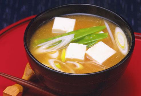 سوپ میسو    Miso Soup d یک منبع پروبیوتیک خوشمزه
