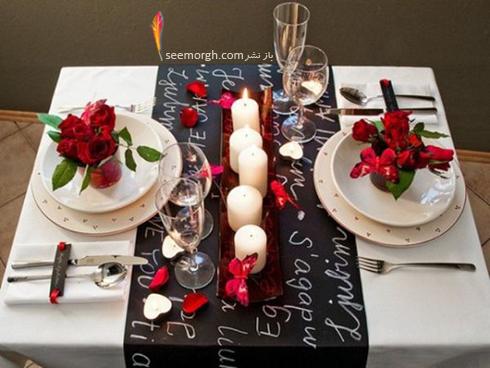 چیدن میز شام رمانتیک برای ولنتاین - ایده شماره 1