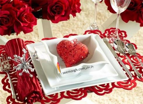 چیدن میز شام رمانتیک برای ولنتاین - ایده شماره 6