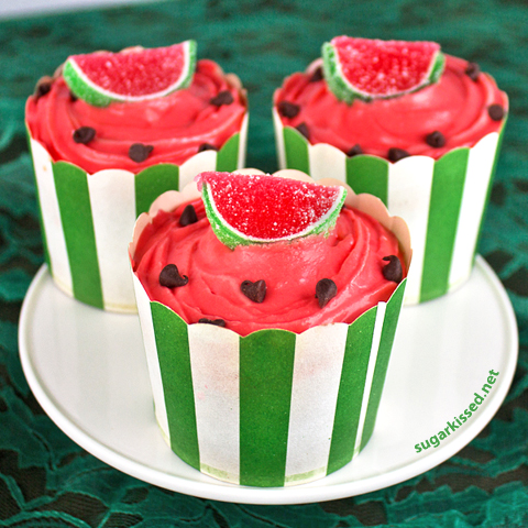 تزئین کاپ کیک هندوانه