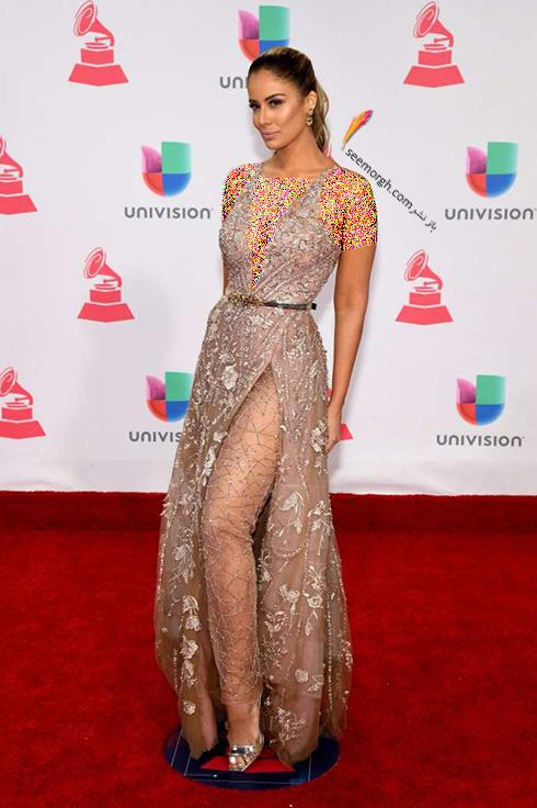 مدل لباس آلیدا اورتیز Aleyda Ortiz در latin grammy awards 2016