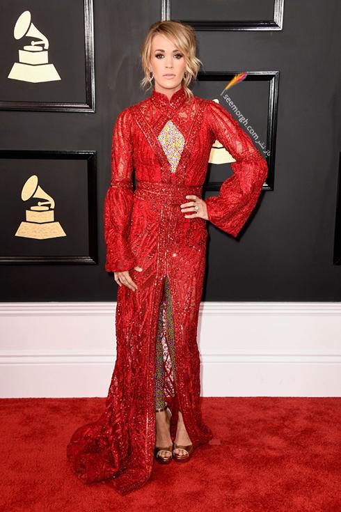 مدل لباس کری آندروود Carrie Underwood در جوایز گرمی Grammy 2017