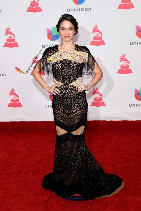 مدل لباس دایانا فوئنتس Diana Fuentes در latin grammy awards 2016