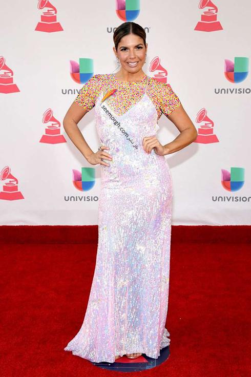 مدل لباس فرناندا کلی Fernanda Kelly در latin grammy awards 2016