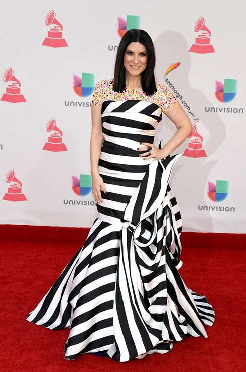مدل لباس لورا پایوسینی Laura Pausini در latin grammy awards 2016